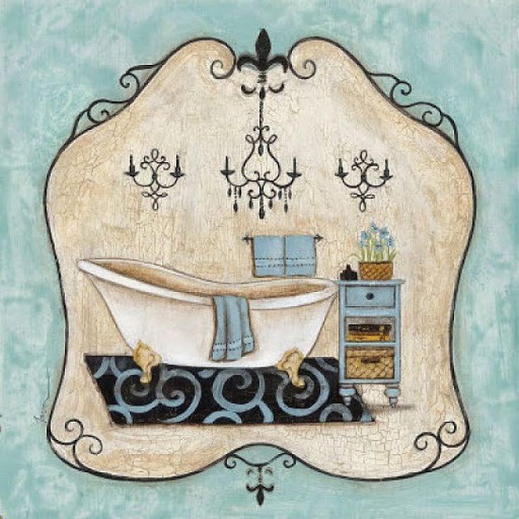 láminas découpage - Baño - Bathroom