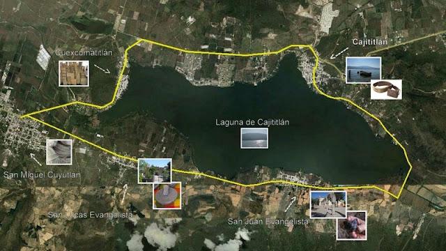 Mapa - Ruta artesanal de Tlajomulco de Zúñiga
