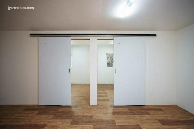 Vista interior de la casa de bajo costo para familias de bajos ingresos