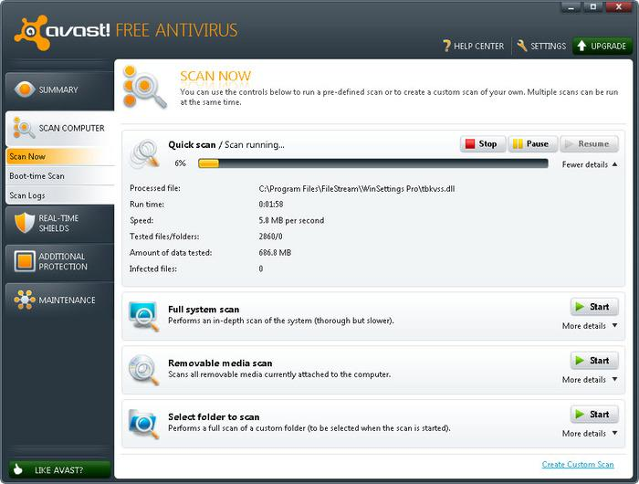 Download avast free antivirus 6 anti virus internet Online antivirus download