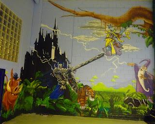 Mural infantil de castillo