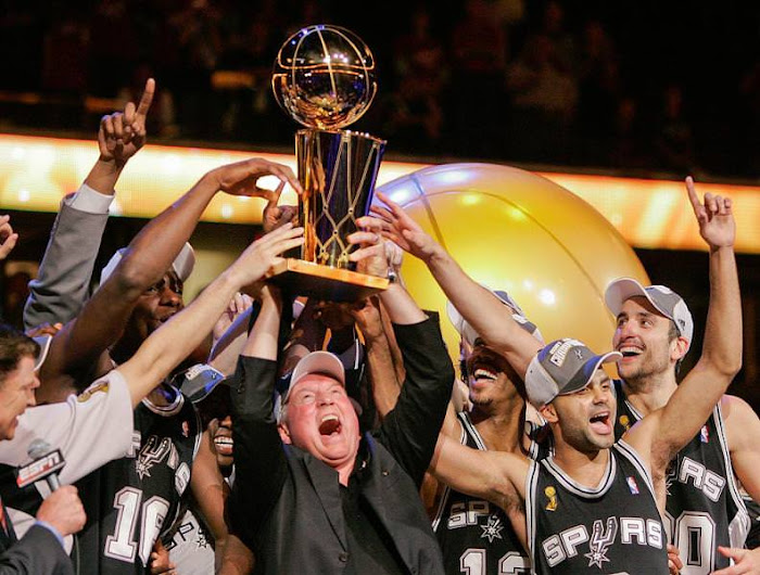 San Antonio 2007 Big 3 Tony Parker Manu Ginobili Tim Duncan Spurs 4th title Gregg Popovich