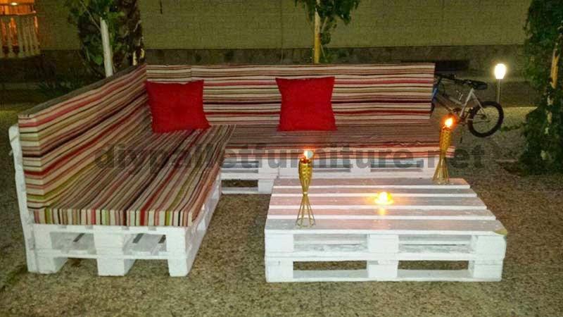 Mueblesdepaletsnet Sofa hecho de palets y mesita de centro para el