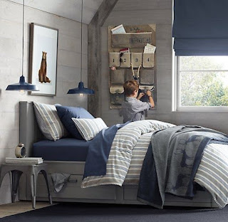 ห้องนอนสีเทา