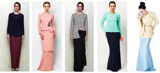 Fesyen Baju Kurung Moden Pendek Maria hasun: fesyen baju kurung moden