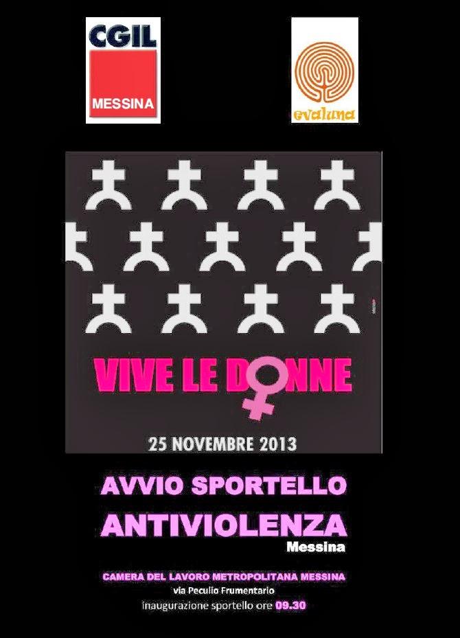 """""""VIVE LE DONNE"""" : INAUGURAZIONE SPORTELLO ANTIVIOLENZA MESSINA"""