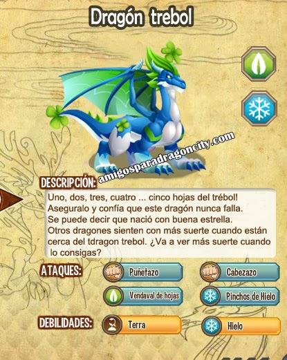imagen de las caracteristicas del dragon trebol
