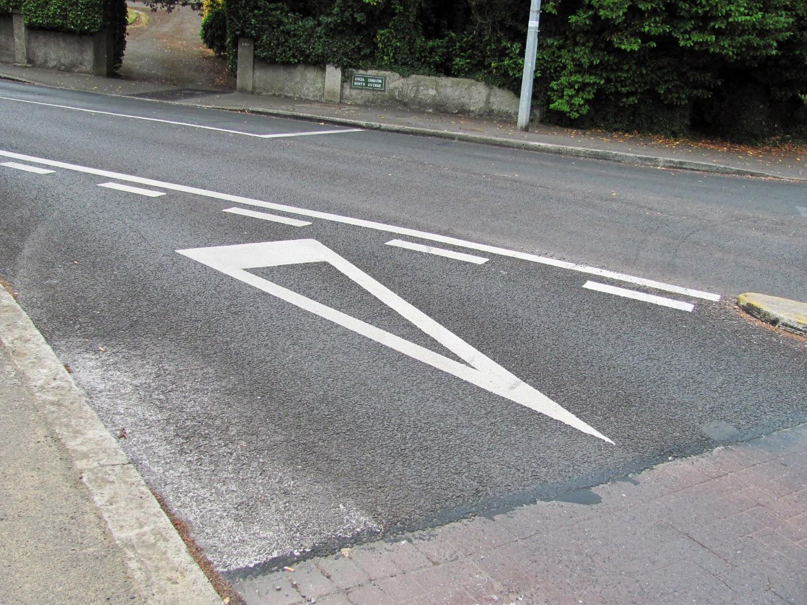Traffic arrow in Dublin