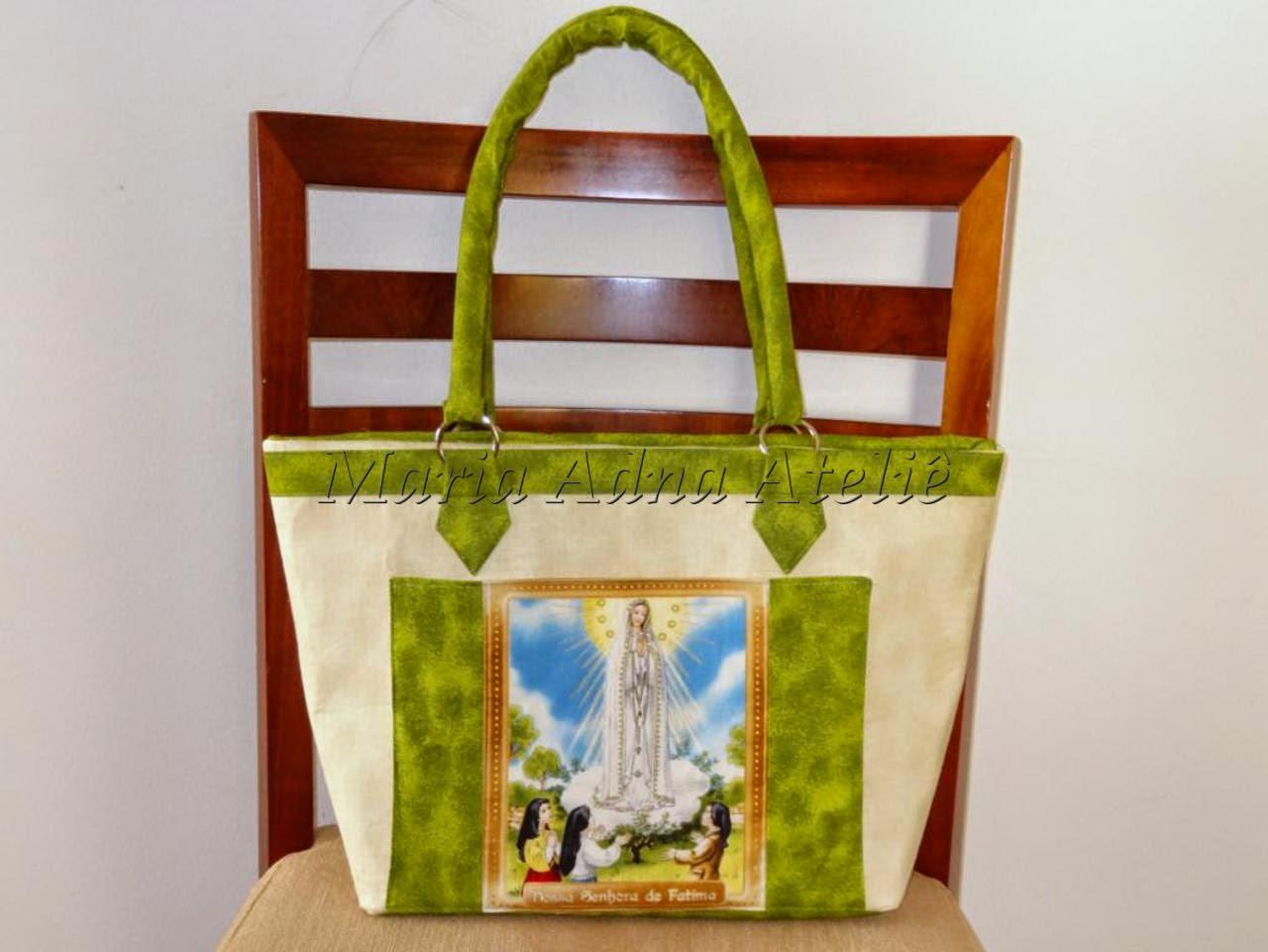 Bolsa, Bolsas, Bolsa tecido, Bolsas tecido, Bolsas tecidos, Bolsa com imagem de santa
