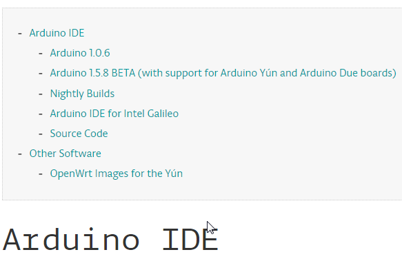 Download arduino ide direct link