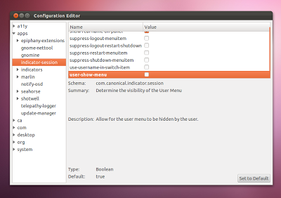 Ubuntu : Disable the user switcher indicator