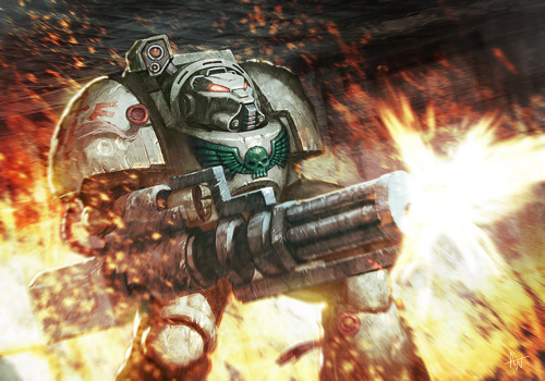 "Dark Angels with ""Plasma Rounds"""