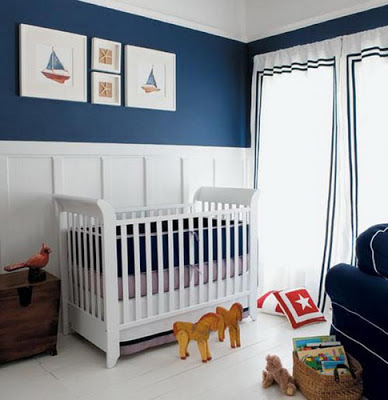 Exotic Minimalist Baby Room Nautical Themed Ideas