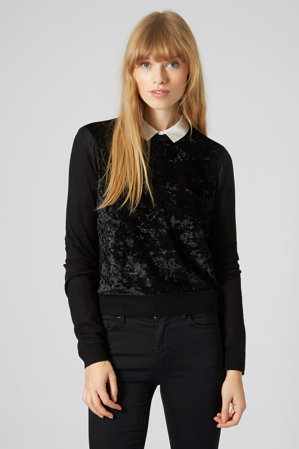 black velvet jumper