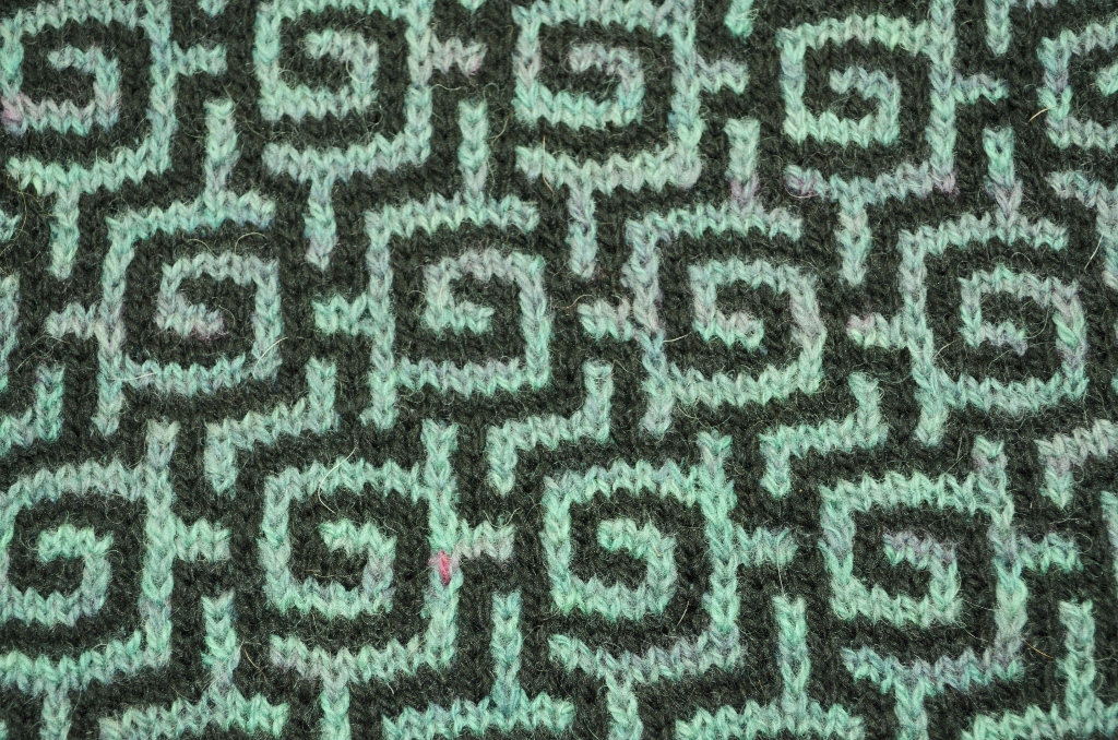 Mosaic Knitting Patterns : Verdigris Knits: Key To The Mint Design - what to do?