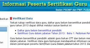 informasi sertifikasi guru 2013