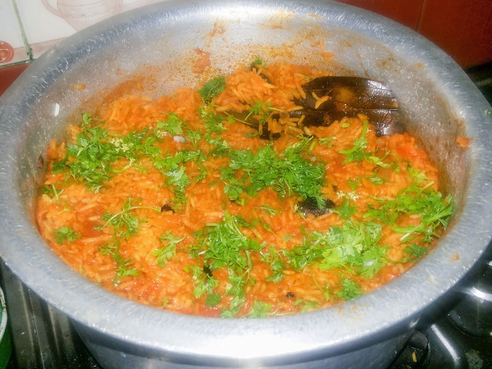Garnish With Coriander Leaves