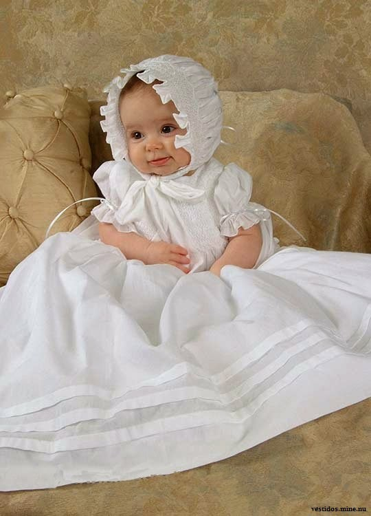 Robe de baptême longue bébé fille mignon