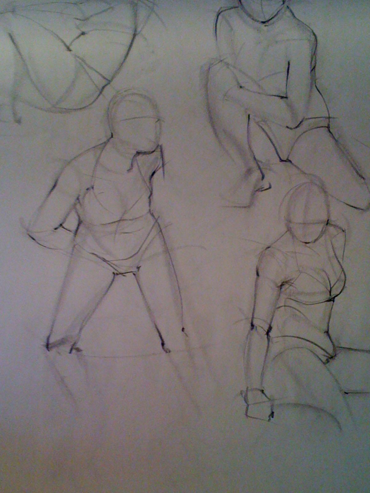 the wazblog  gesture drawings
