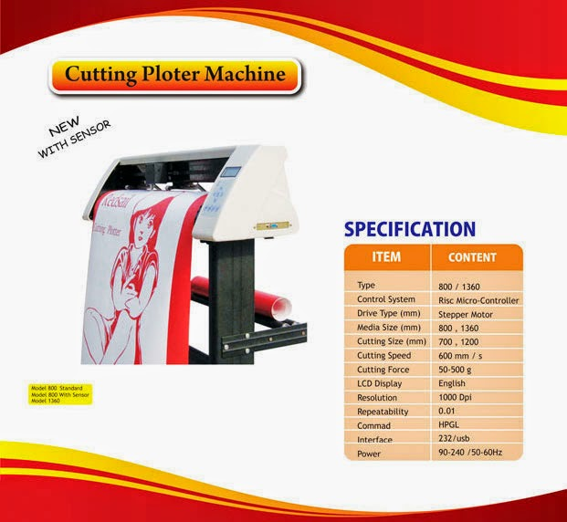 Mesin Cutting Sticker Redsail RS 800