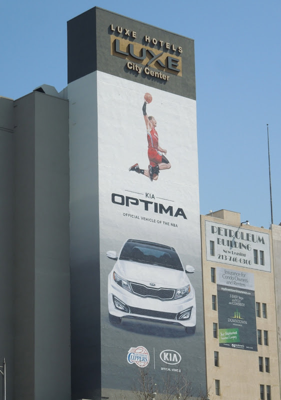 Kia Optima NBA billboard
