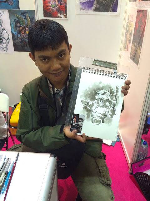 Singapore Toy, Game & Comic Convention STGCC 2015 artist alley yusuf idris