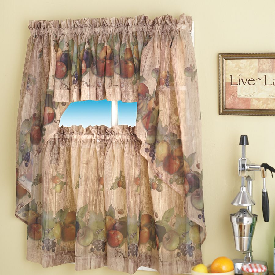 For Kitchen Curtains Autumn Lights Picture Autumn Kitchen Curtains
