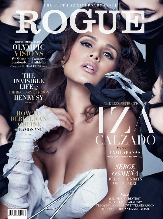 Iza Calzado Covers Rogue Magazine July 2012 issue