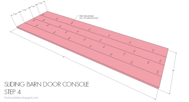 planked console top