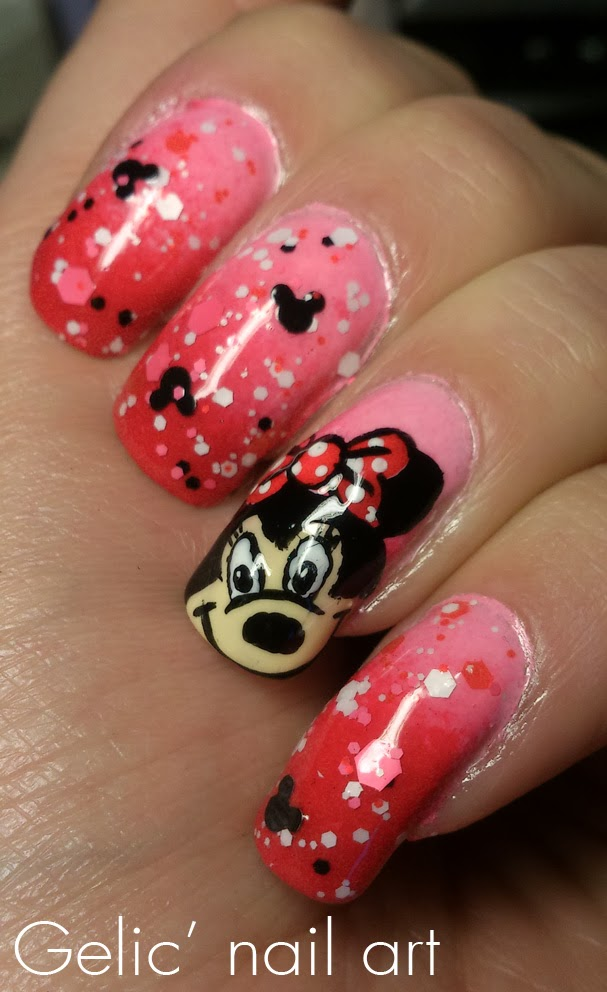 I Really Like This Nail Art And The Use Of Red Pink Together Hope You It Too