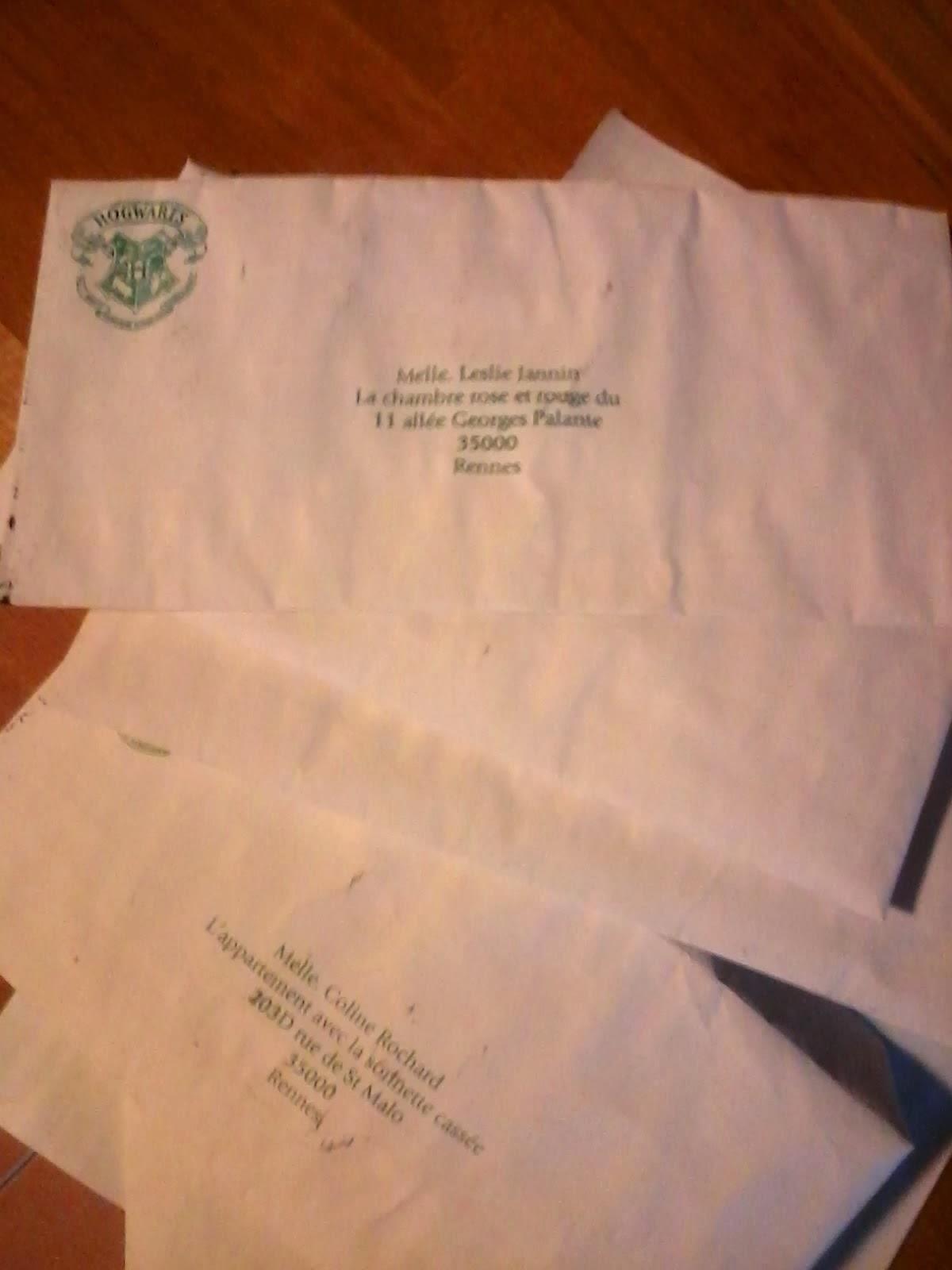 aelim crafting  enveloppe pour la lettre de poudlard