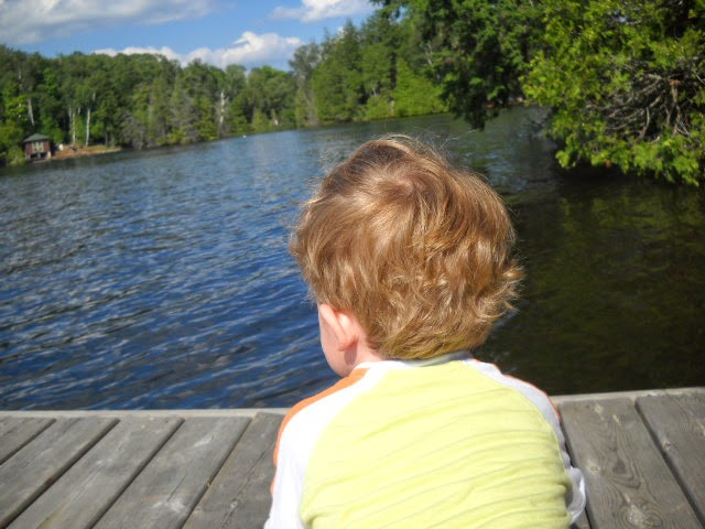 MY SON GRAEME, HE'S CONTEMPLATING HOW HE WOULD DESCRIBE THE VIEW!
