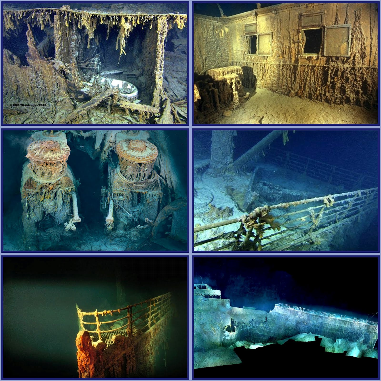 Titanic underwater artifacts - bing images.