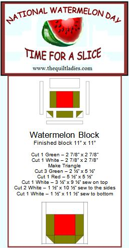 how to make a watermelon quilt block