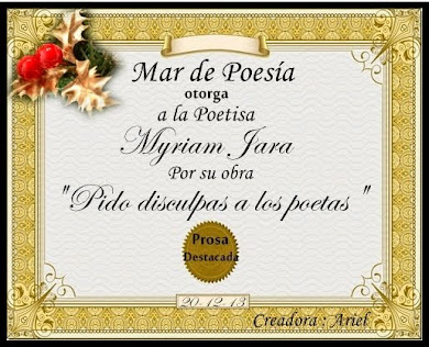 """Poema premiado por """"MAR DE POESÍA"""""""