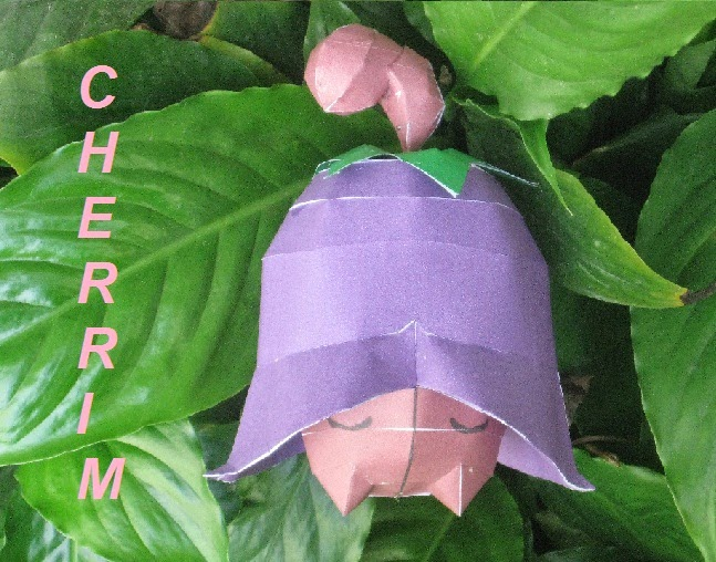 Pokemon Cherrim papercraft