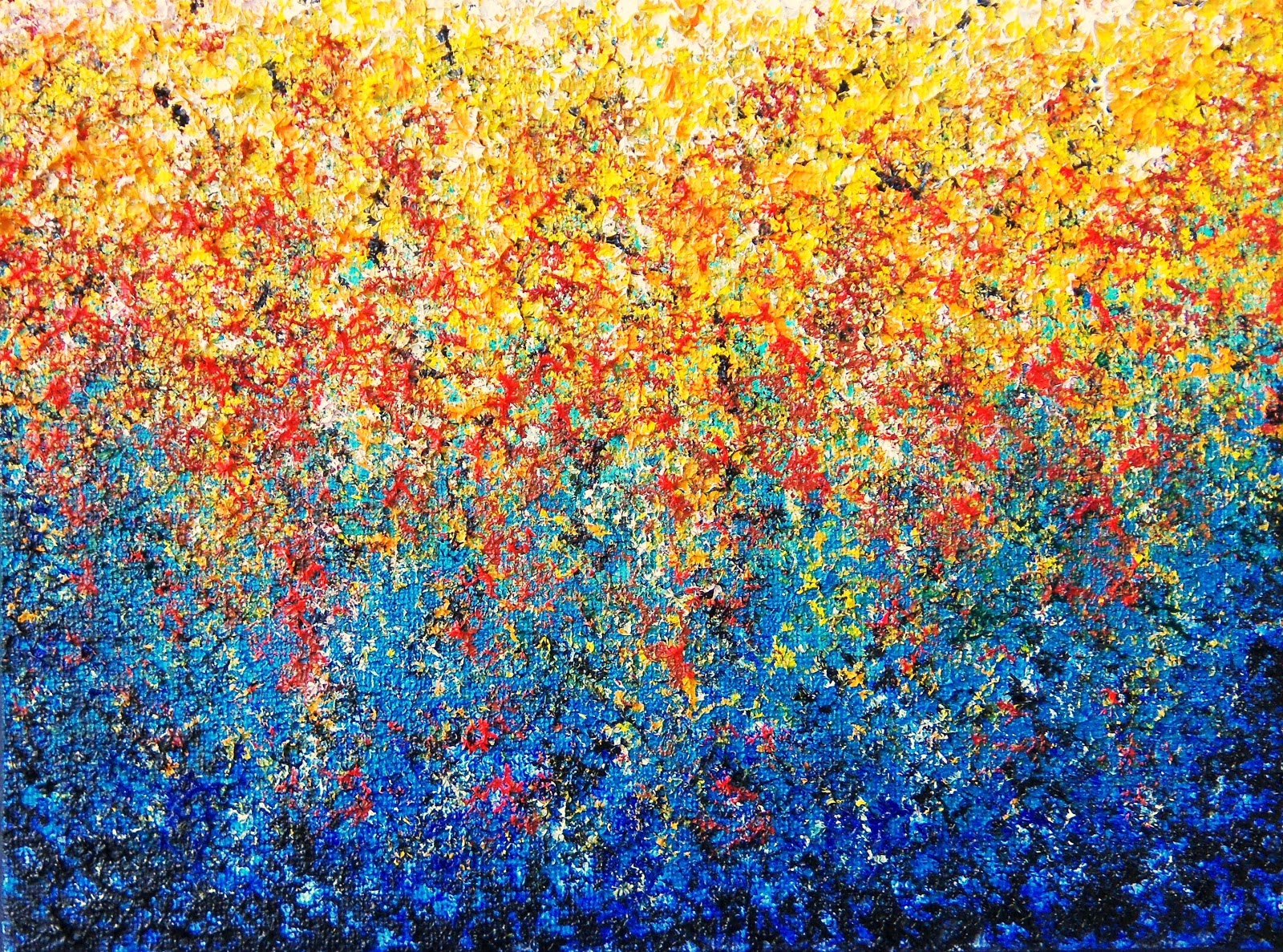 Abstract Garden Art Impasto Painting, Rainbow Art, Colorful Painting, 6 X  8, Hanging Gardens