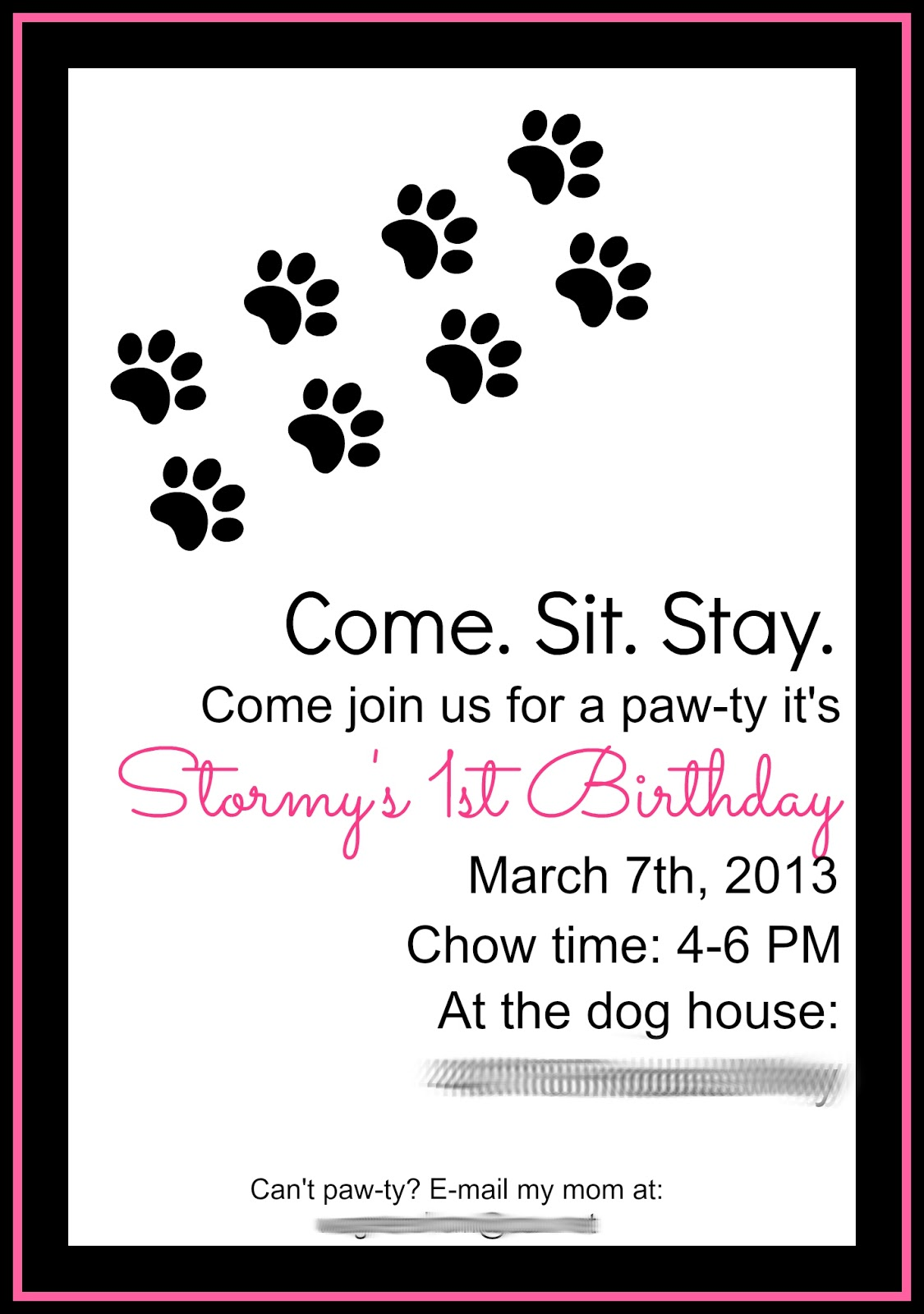 Dog Party Invitations was very inspiring ideas you may choose for invitation ideas