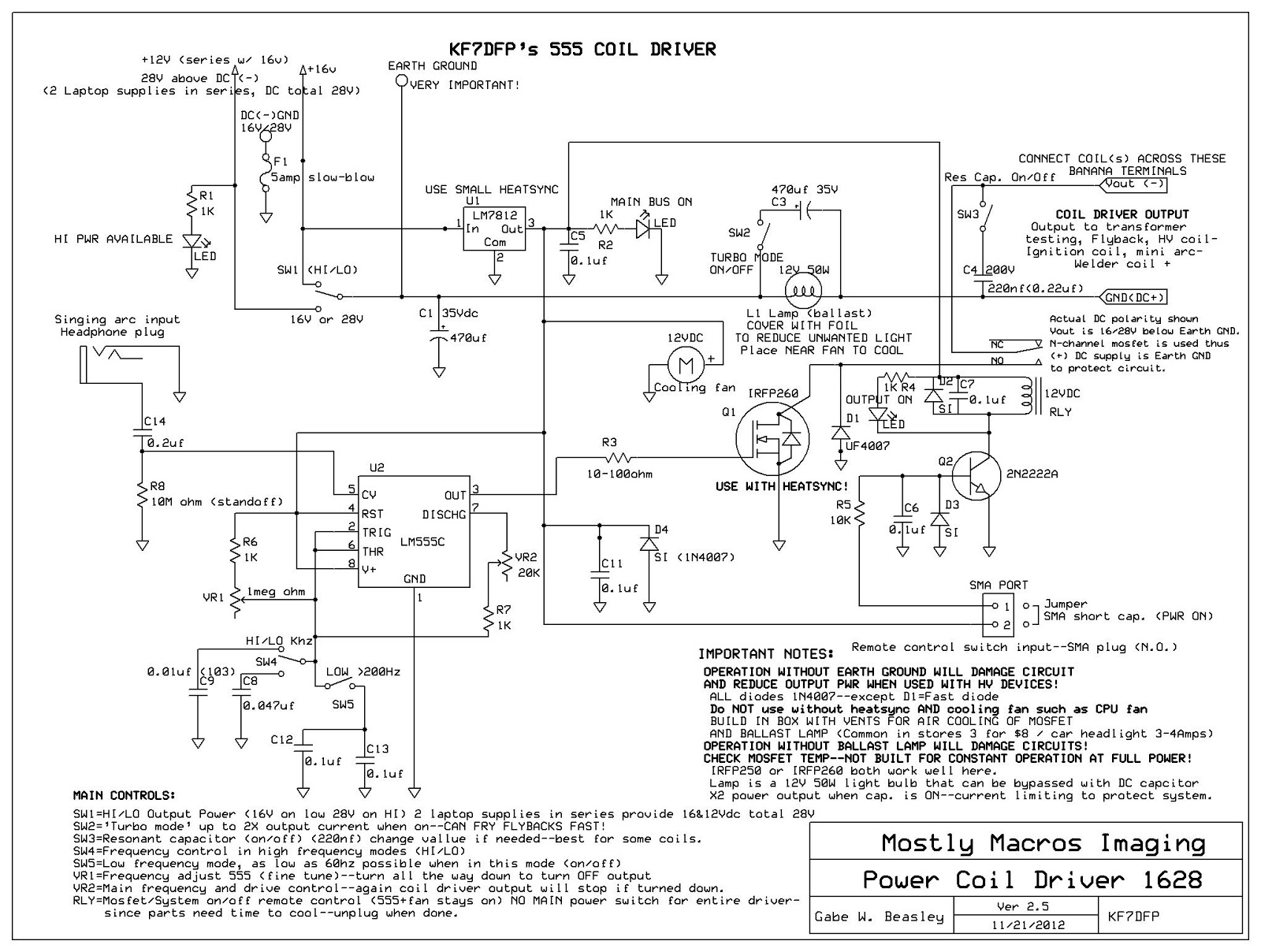 Dc Tesla Coil Wiring Diagram Library Schematic