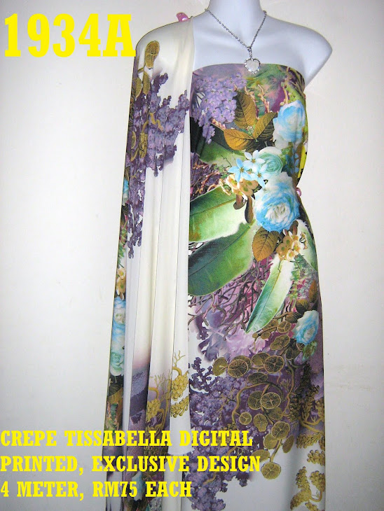 CTD 1934A: CREPE TISSABELLA DIGITAL PRINTED, EXCLUSIVE DESIGN, 4 METER