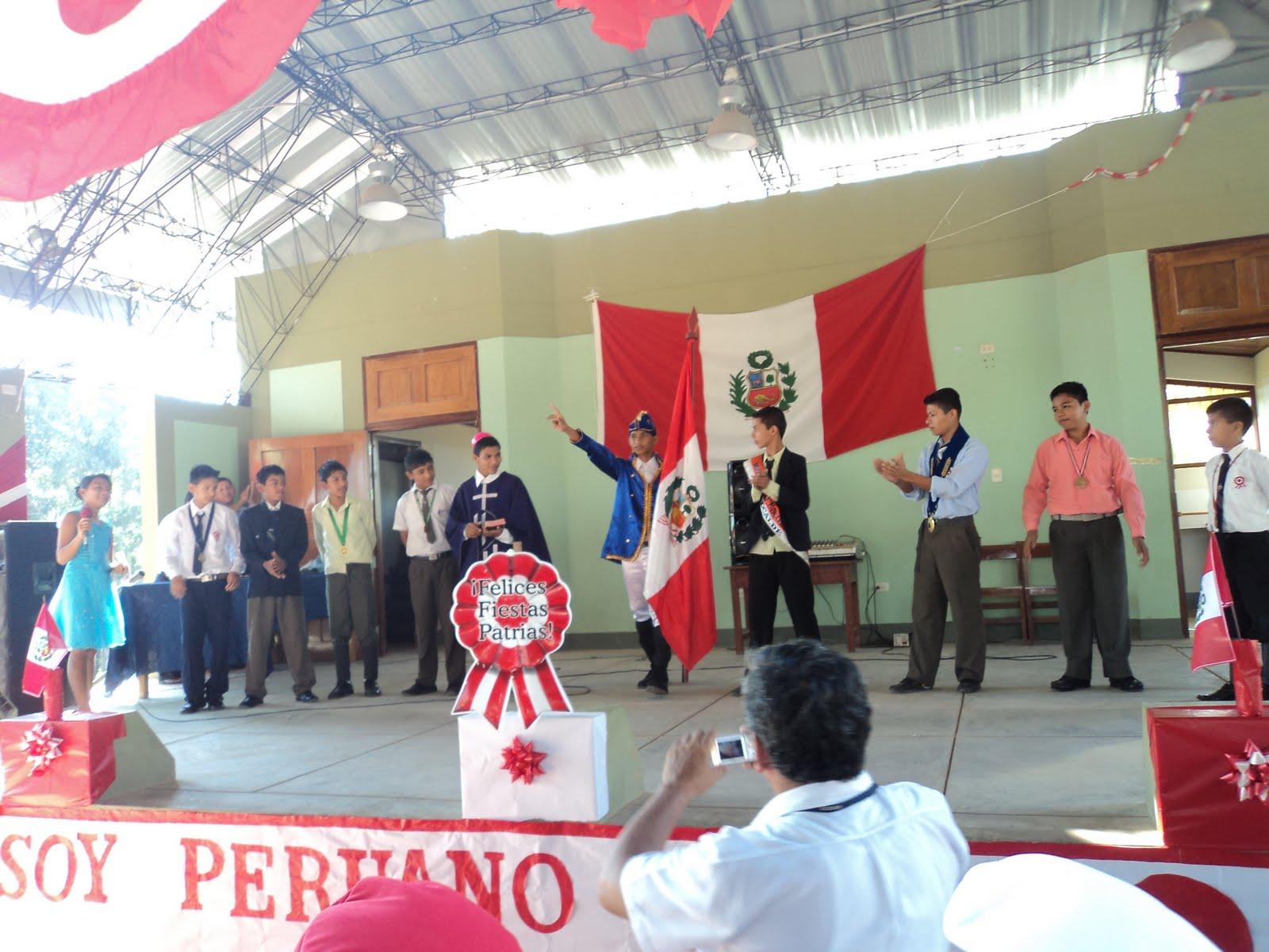 Paz y justicia ucayali fortaleciendo los valores civicos for Diario mural fiestas patrias chile