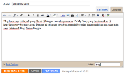 Membuat Blog Di Blogger,blogspot