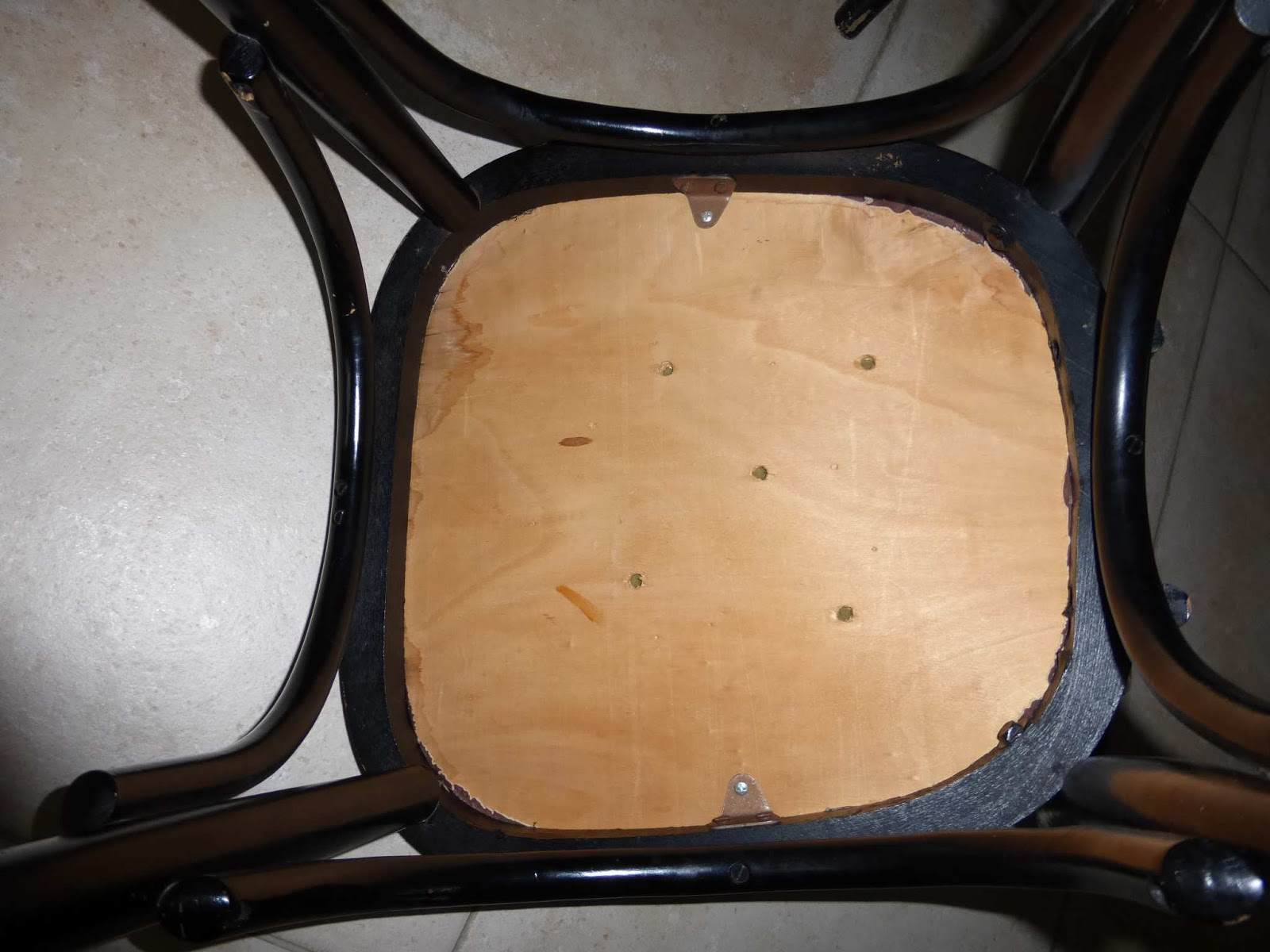 Souvent Bulles de cerises: Retaper une chaise en bois et son assise TK63