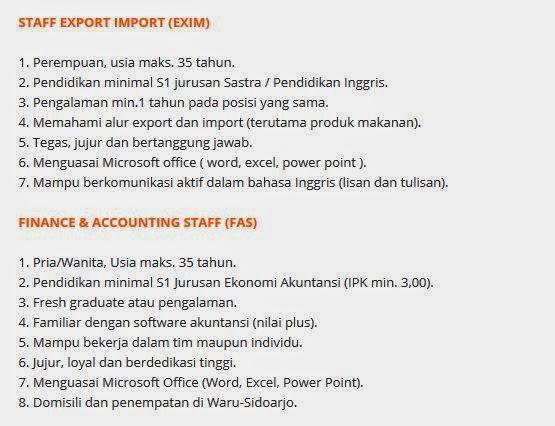 lowongan kerja pt motasa indonesia sidoarjo