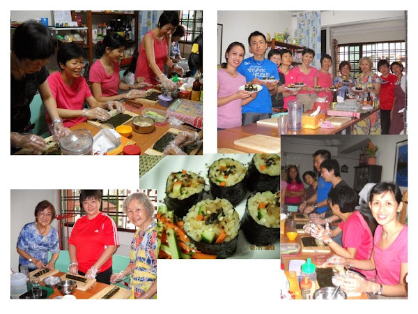All of us enjoyed making Sushi @ the Japanese Vegan Cuisine class on 27 Apr 2013