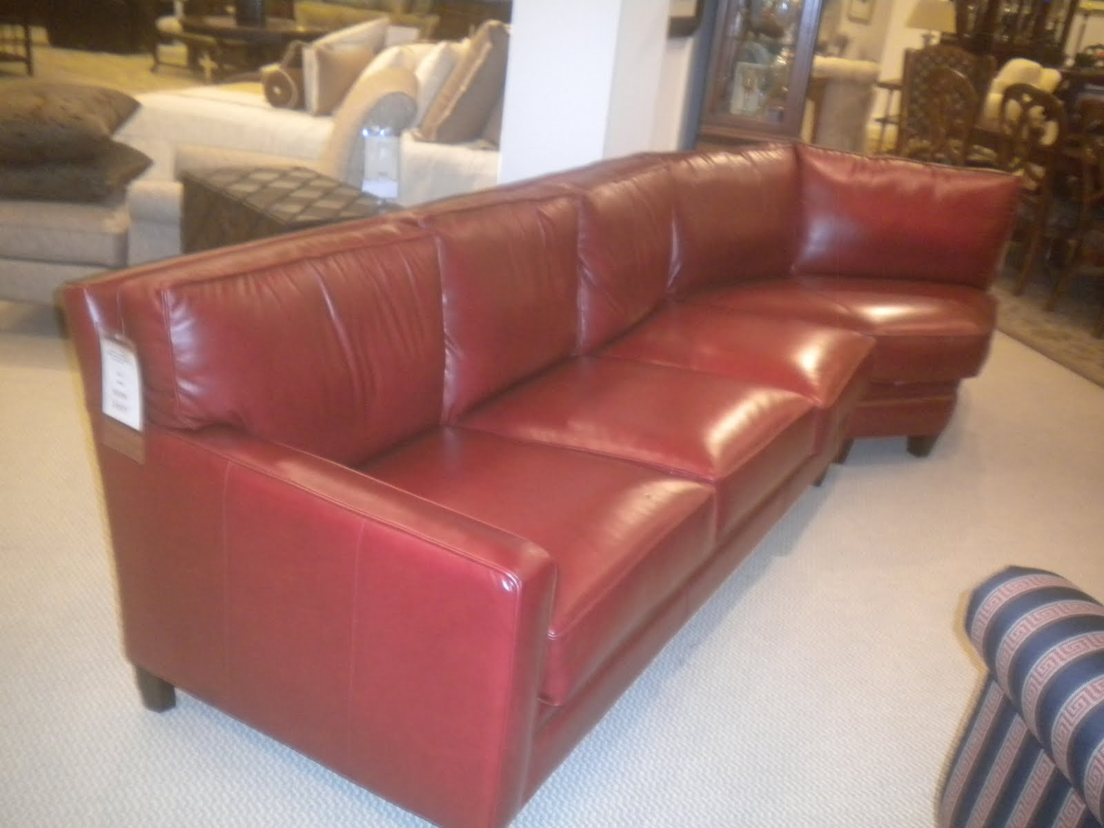 Mercer Left Arm Sofa And Wedge In A Marvelous Red Leather. For The  Discerning Customer. A Unique Piece For A Unique Setting.
