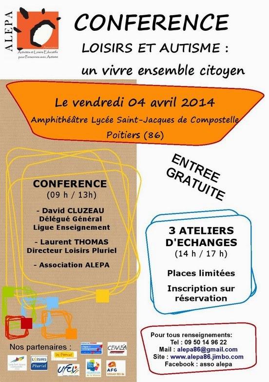 Un sourire pour l'autisme du 2 au 6 avril à Poitiers