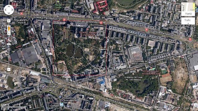 parcul morarilor vedere din satelit