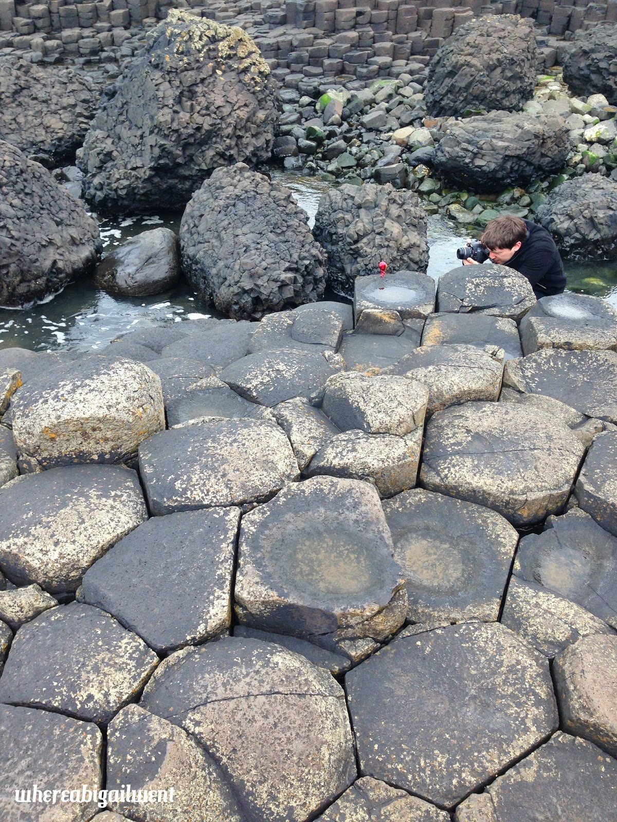 Mini Iron Man at the Giant's Causeway