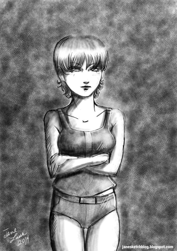 Dibujo de chica manga en azdrawing
